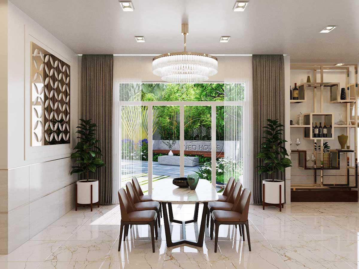 thiết kế nội thất biệt thự vườn phòng bếp 1