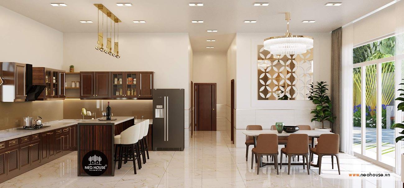 thiết kế nội thất biệt thự vườn phòng bếp 2