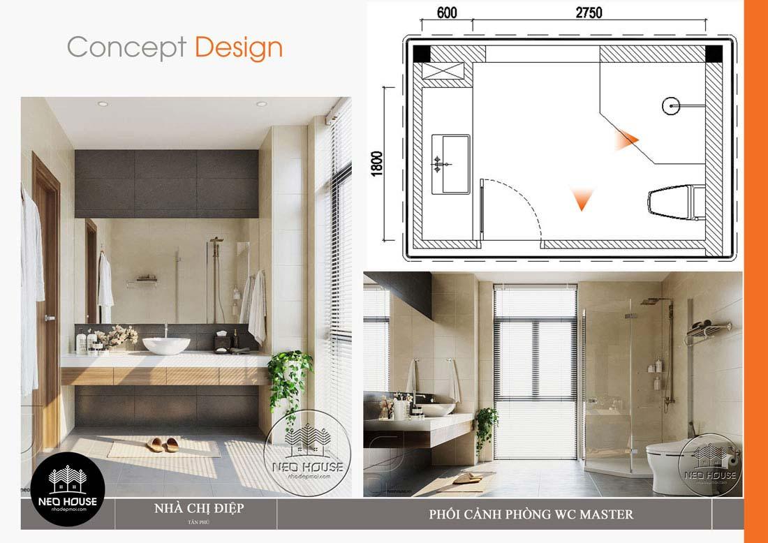 Nội thất phòng vệ sinh mẫu thiết kế nhà đẹp tại Đà Nẵng