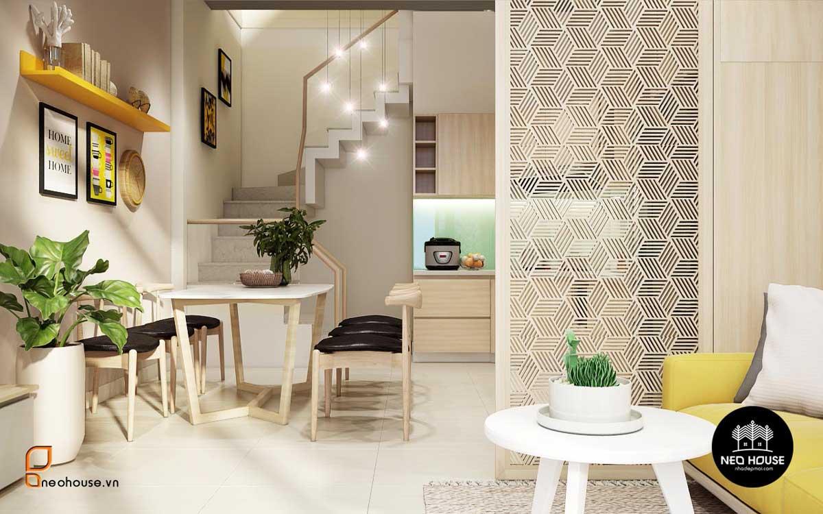Thiết kế nội thất phòng khách có cầu thang 3