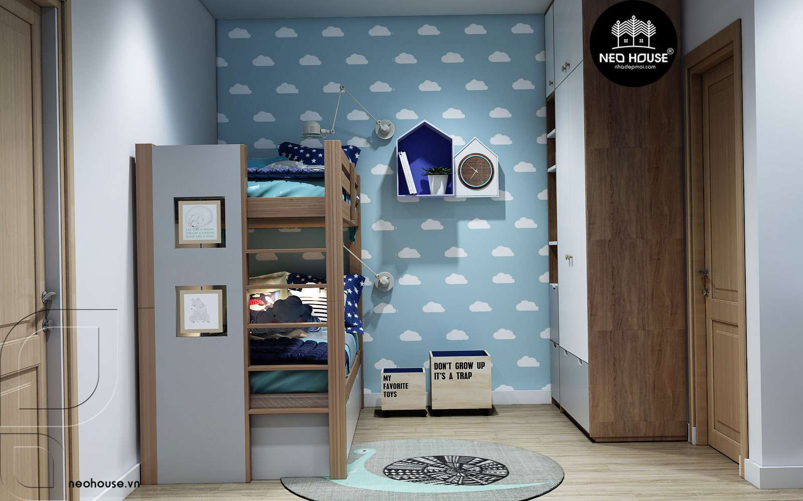 thiết kế phòng ngủ cho bé gái 4