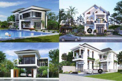 Top 10 Mẫu Nhà Mái Thái 2 Tầng Đẹp Năm 2021 Thiết Kế Hiện Đại