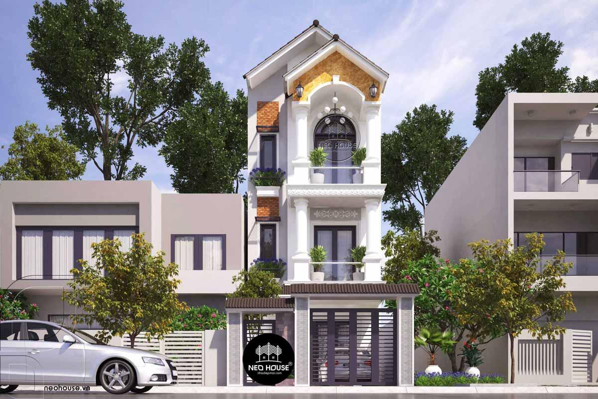 Nhà phố mặt tiền 5m bán cổ điển