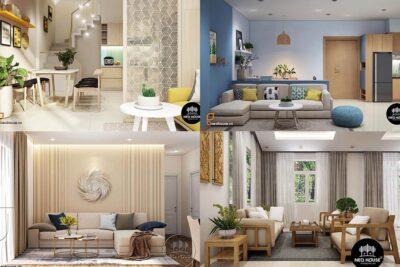 20 mẫu thiết kế nội thất phòng khách nhà phố, chung cư, biệt thự đẹp