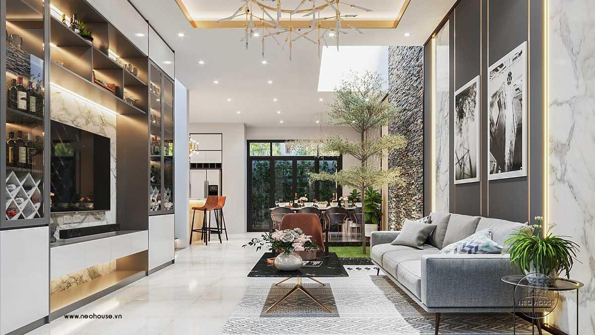Thiết kế nội thất phòng khách biệt thự 3