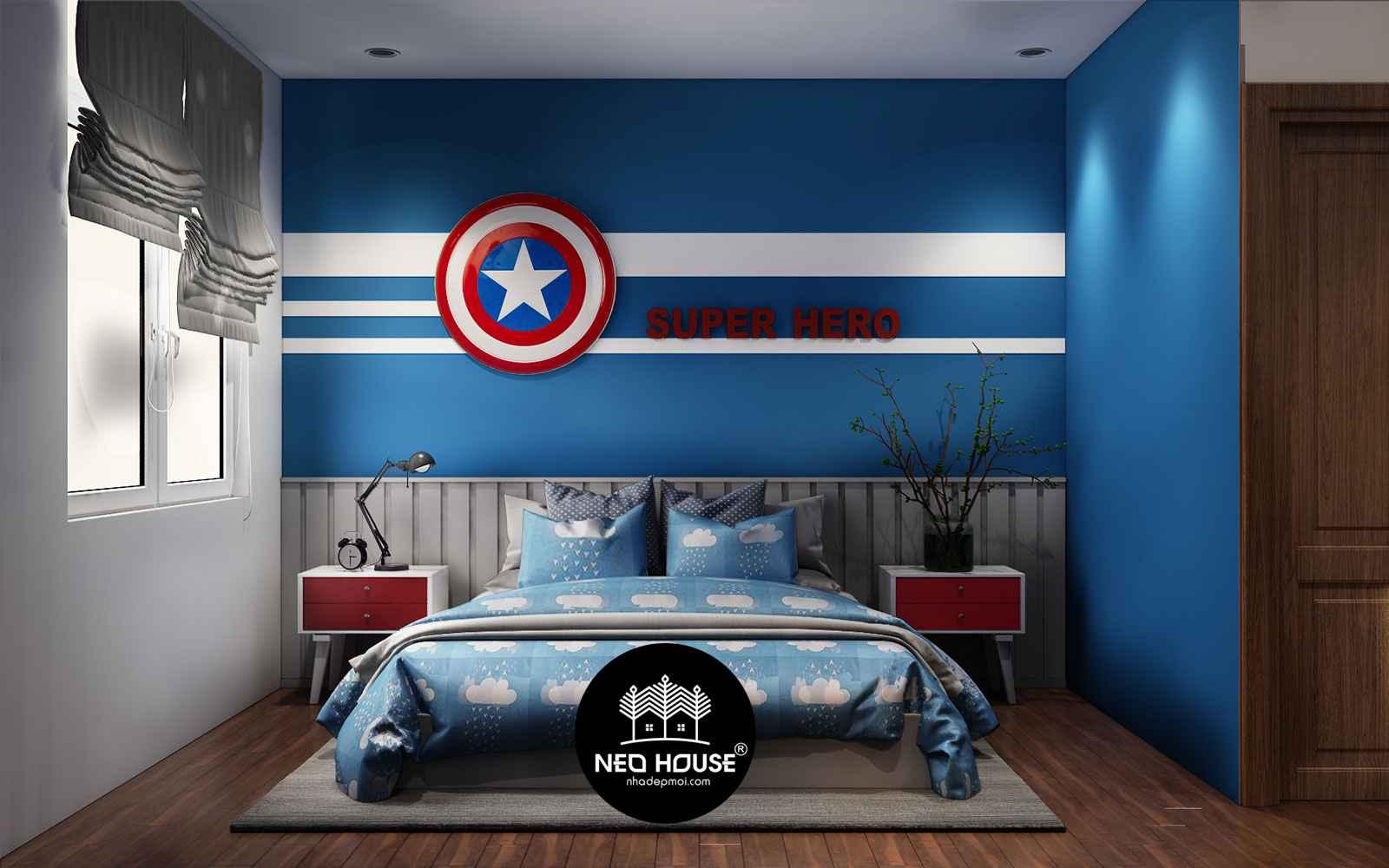 trang trí phòng ngủ cho bé trai 1