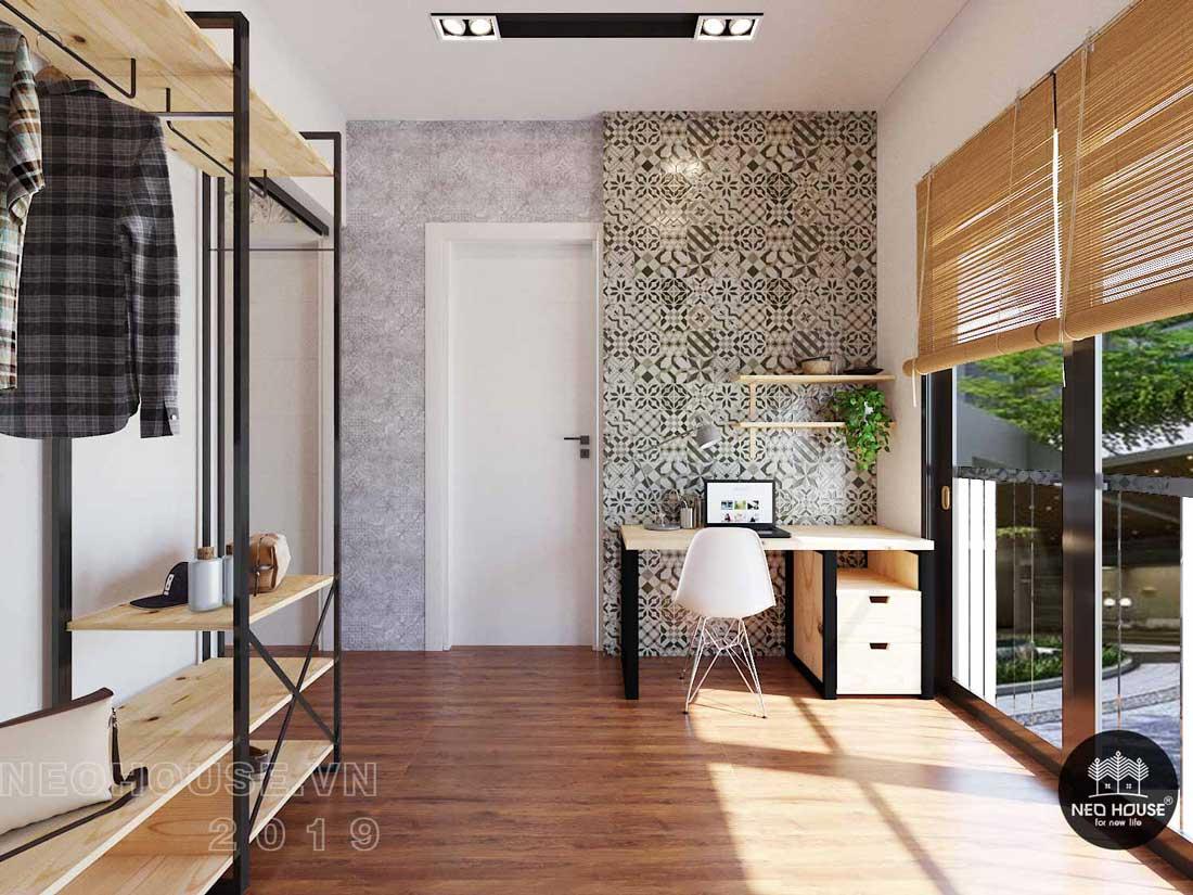 Thiết kế nội thất biệt thự phố hiện đại phòng ngủ