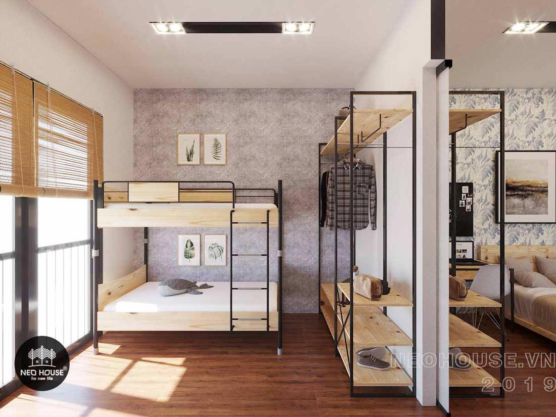 Mẫu nội thất phòng ngủ cho bé biệt thự phố 3 tầng hiện đại