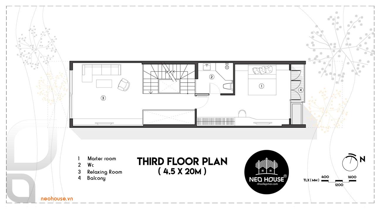 nhà phố mặt tiền 5m 13