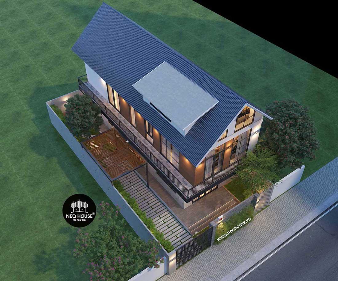 thiết kế biệt thự 2 tầng đẹp 1