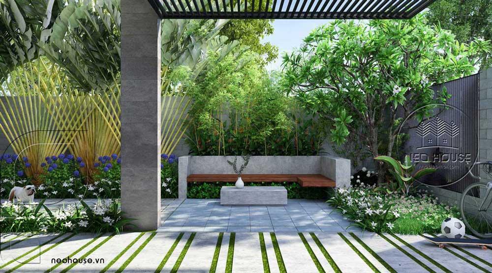 mẫu biệt thự có sân vườn 2