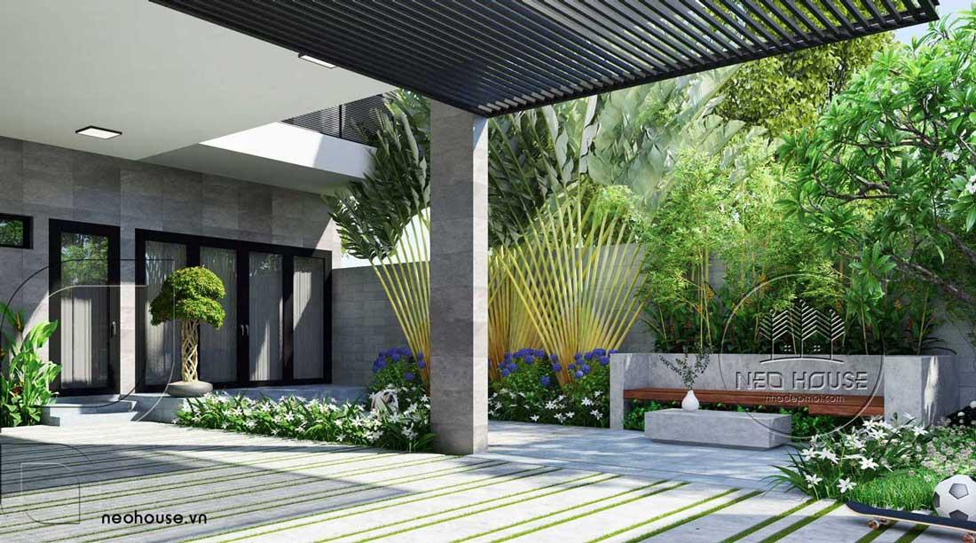 mẫu biệt thự có sân vườn 1