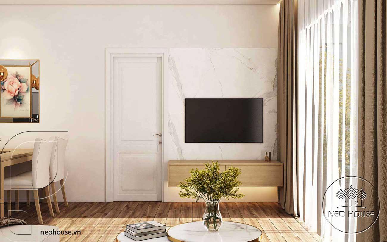 gạch tranh ốp tường phòng khách