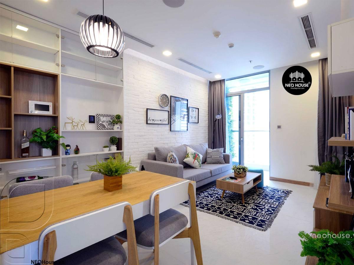 thiết kế gạch ốp tường phòng khách