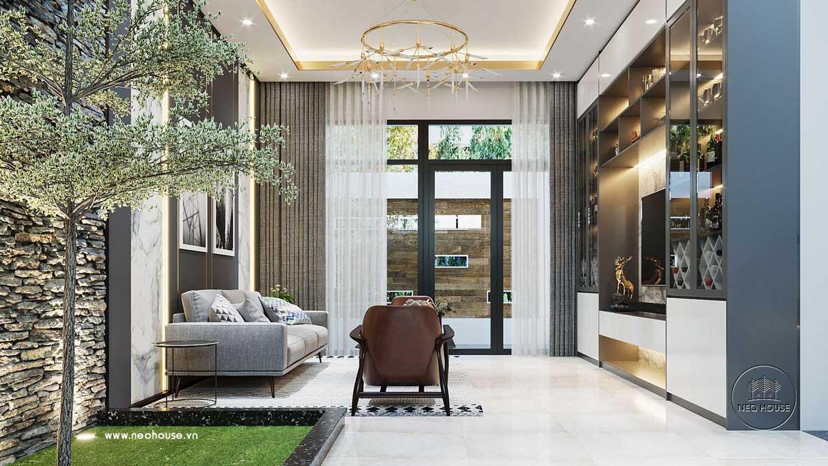 kiểu trần thạch cao cho phòng khách hiện đại