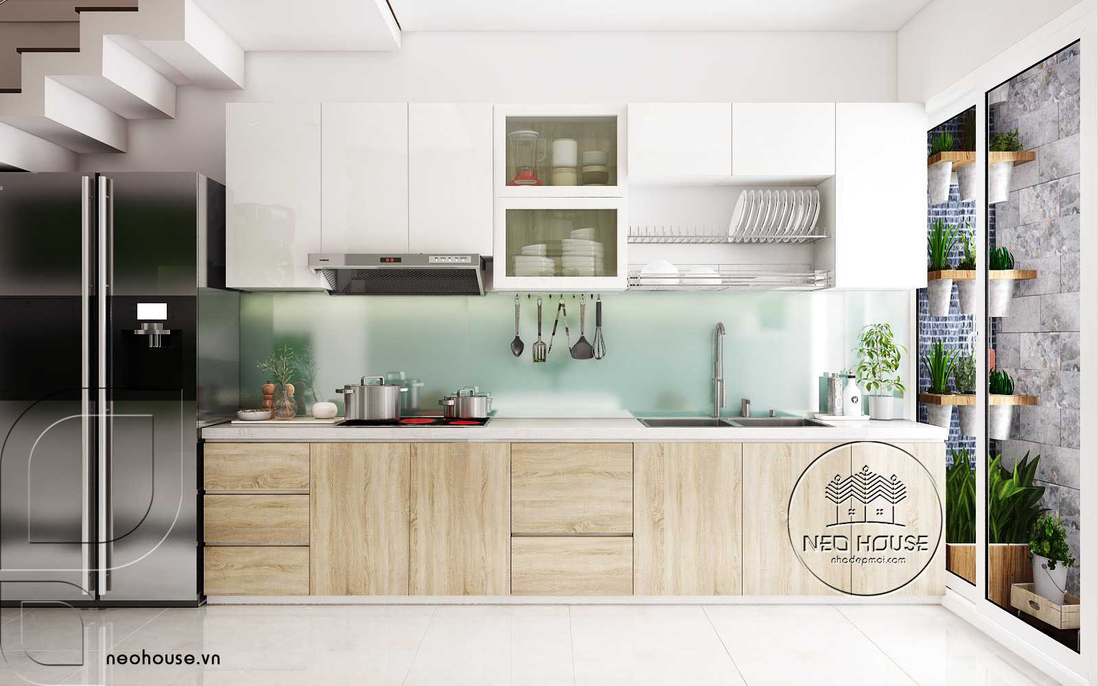 trang trí nhà bếp nhỏ đẹp