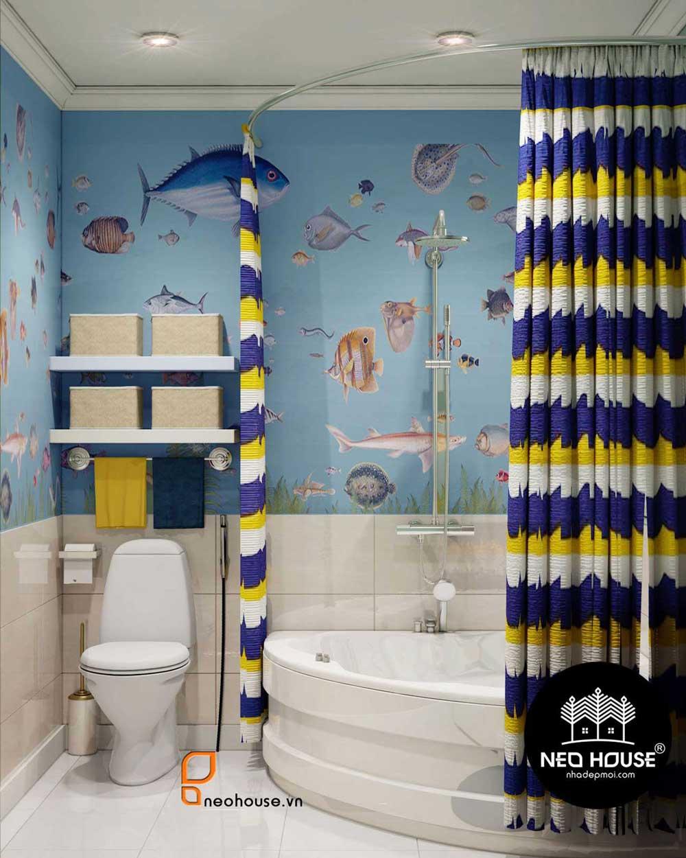 cách trang trí phòng tắm hiện đại 1