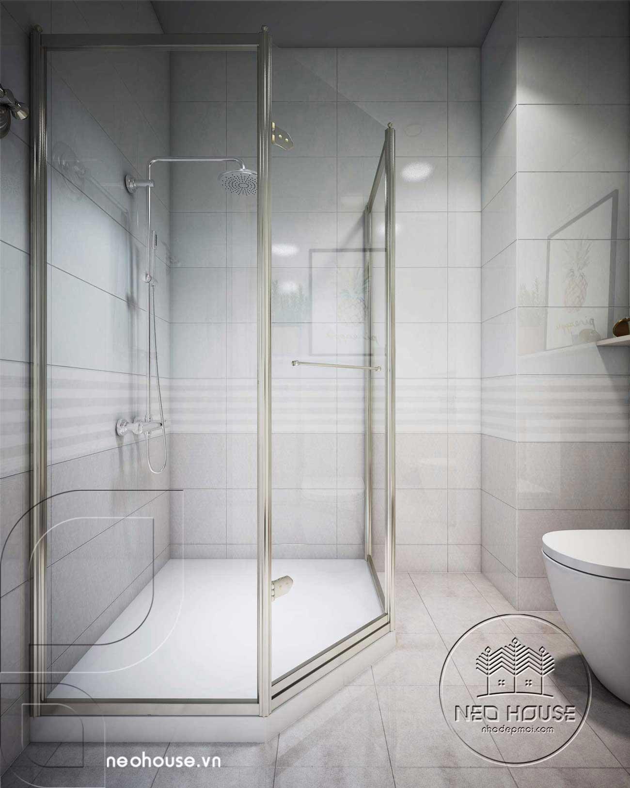 cách bố trí phòng tắm, WC độc đáo