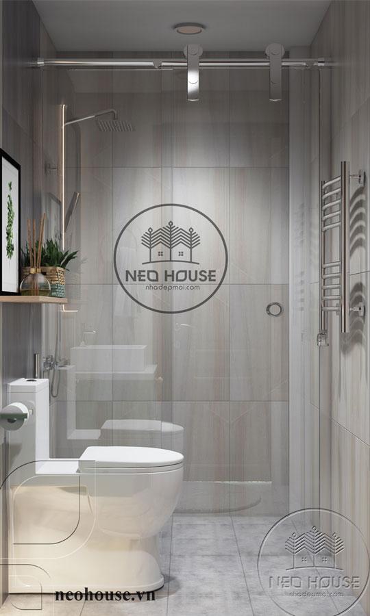 mẫu thiết kế phòng tắm đẹp cho nhà ống 1