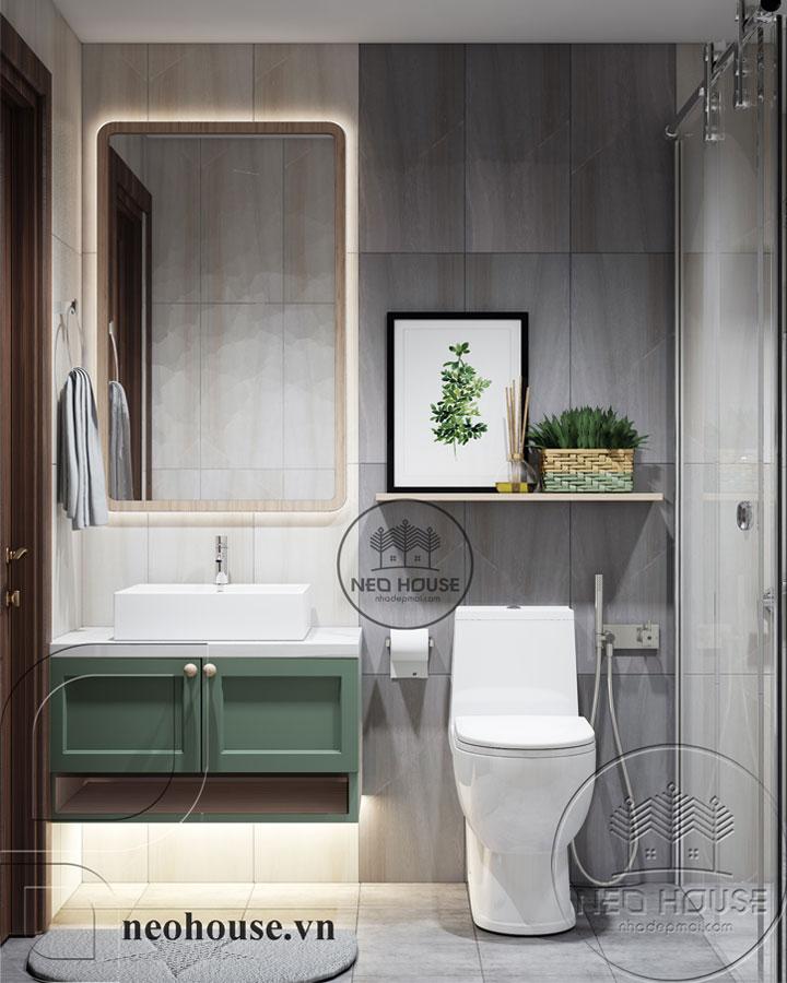 mẫu thiết kế phòng tắm đẹp cho nhà ống
