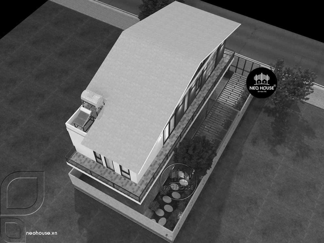 Mẫu thiết kế biệt thự hiện đại đẹp 2 tầng