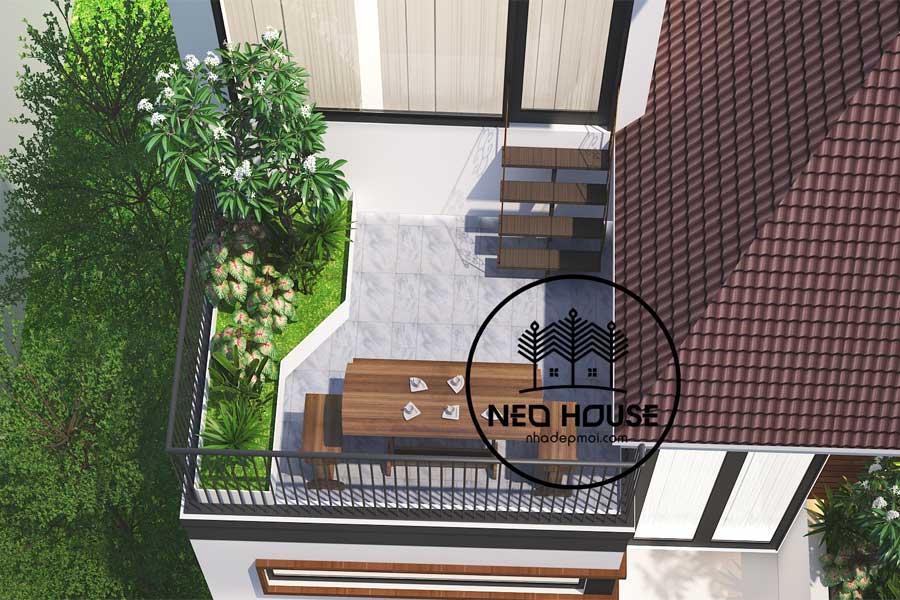 Biệt thự phố hiện đại 2 tầng 1