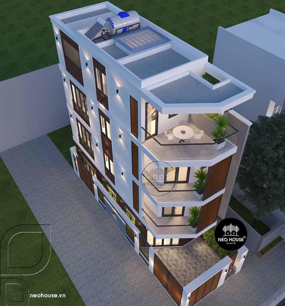 Thiết kế nhà phố 2 mặt tiền 1