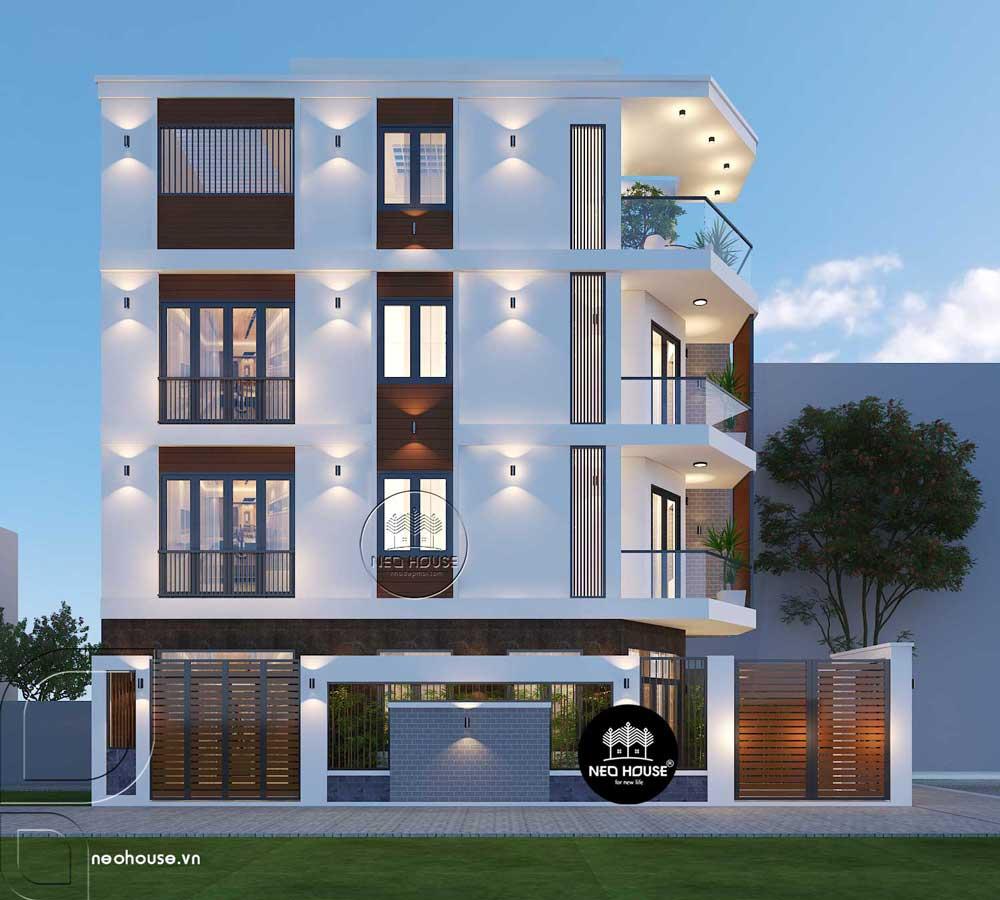 Thiết kế nhà phố 2 mặt tiền 2