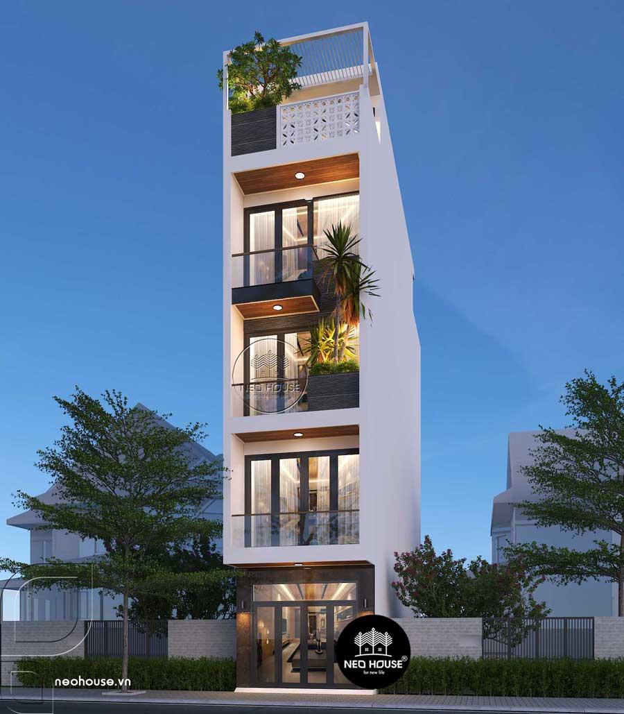 Nhà phố hiện đại 5 tầng 4x20m