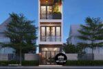 Mẫu Nhà Phố 5 Tầng Đẹp Hiện Đại Diện Tích 4x20m Tại Đà Nẵng – NP25