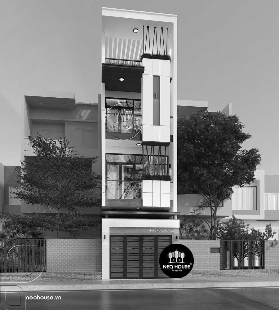 Thiết kế cải tạo nhà phố 3 tầng 1