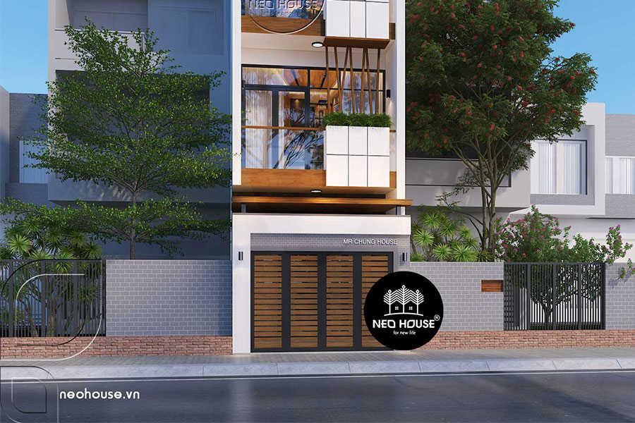 Thiết kế cải tạo nhà phố 3 tầng mặt tiền 4m. Ảnh bìa