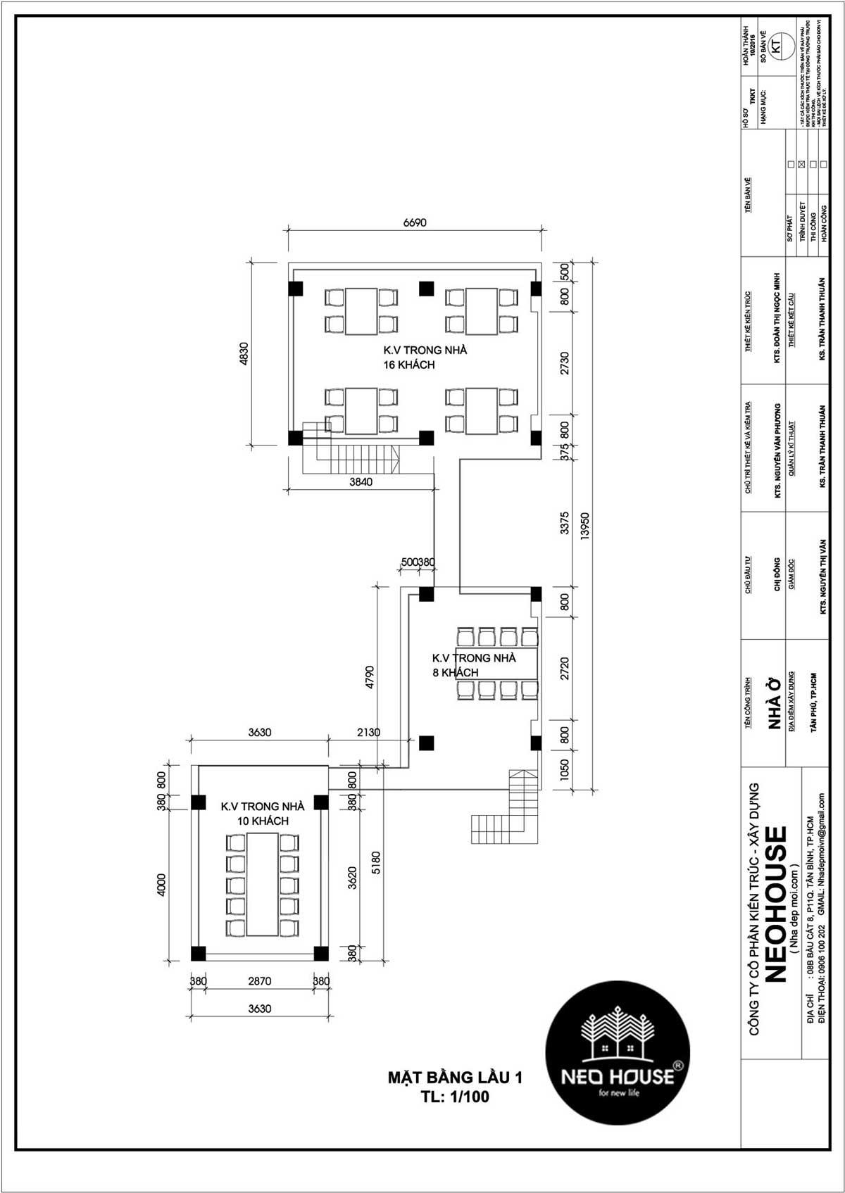 thiết kế nhà hàng ăn uống 8