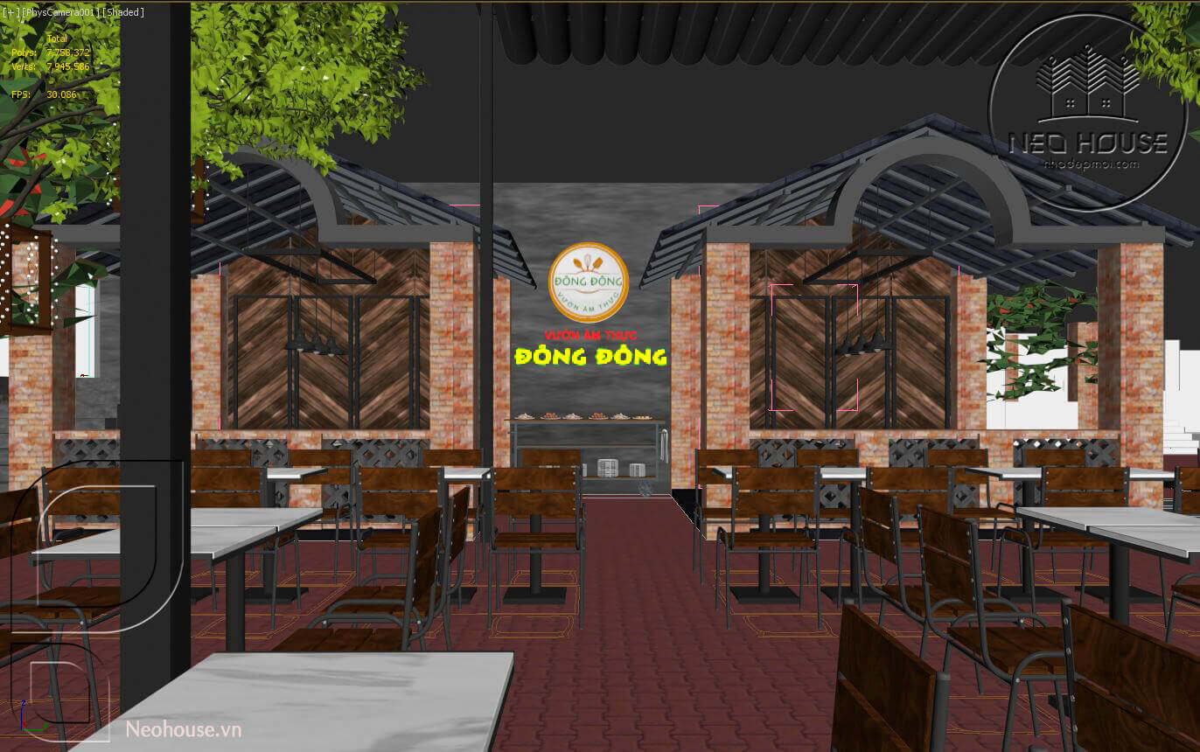 thiết kế nhà hàng ăn uống 2