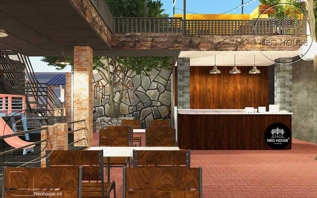 thiết kế nhà hàng ăn uống 3