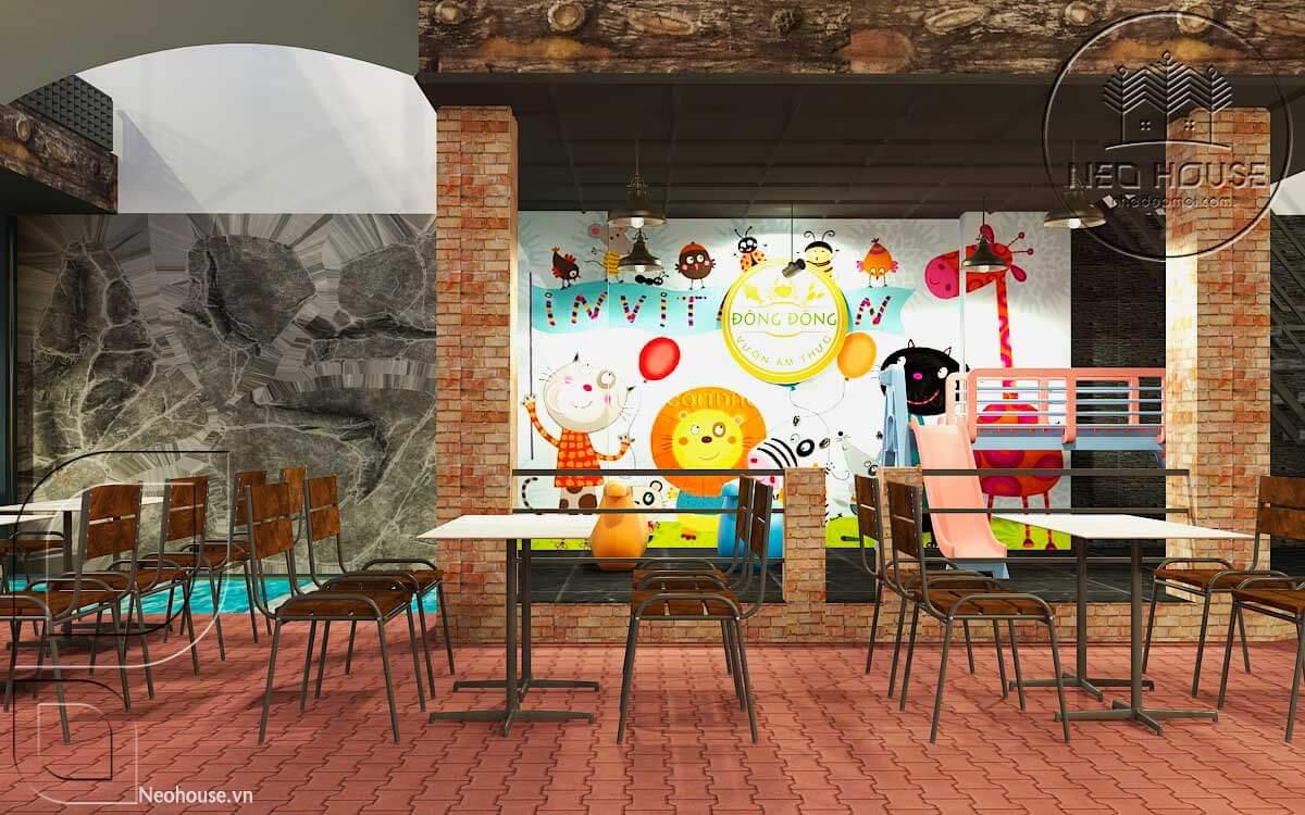 thiết kế nhà hàng ăn uống 4
