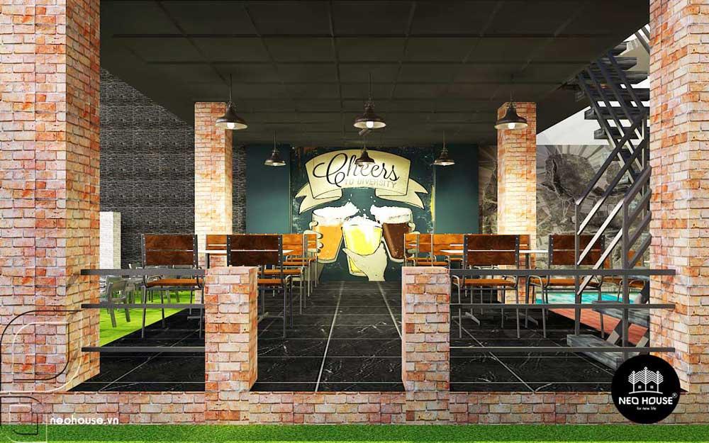 thiết kế nhà hàng ăn uống 5