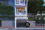 Thiết Kế Nhà Ống 4 Tầng Đẹp 80m2 Tại Quận Tân Phú – NP27