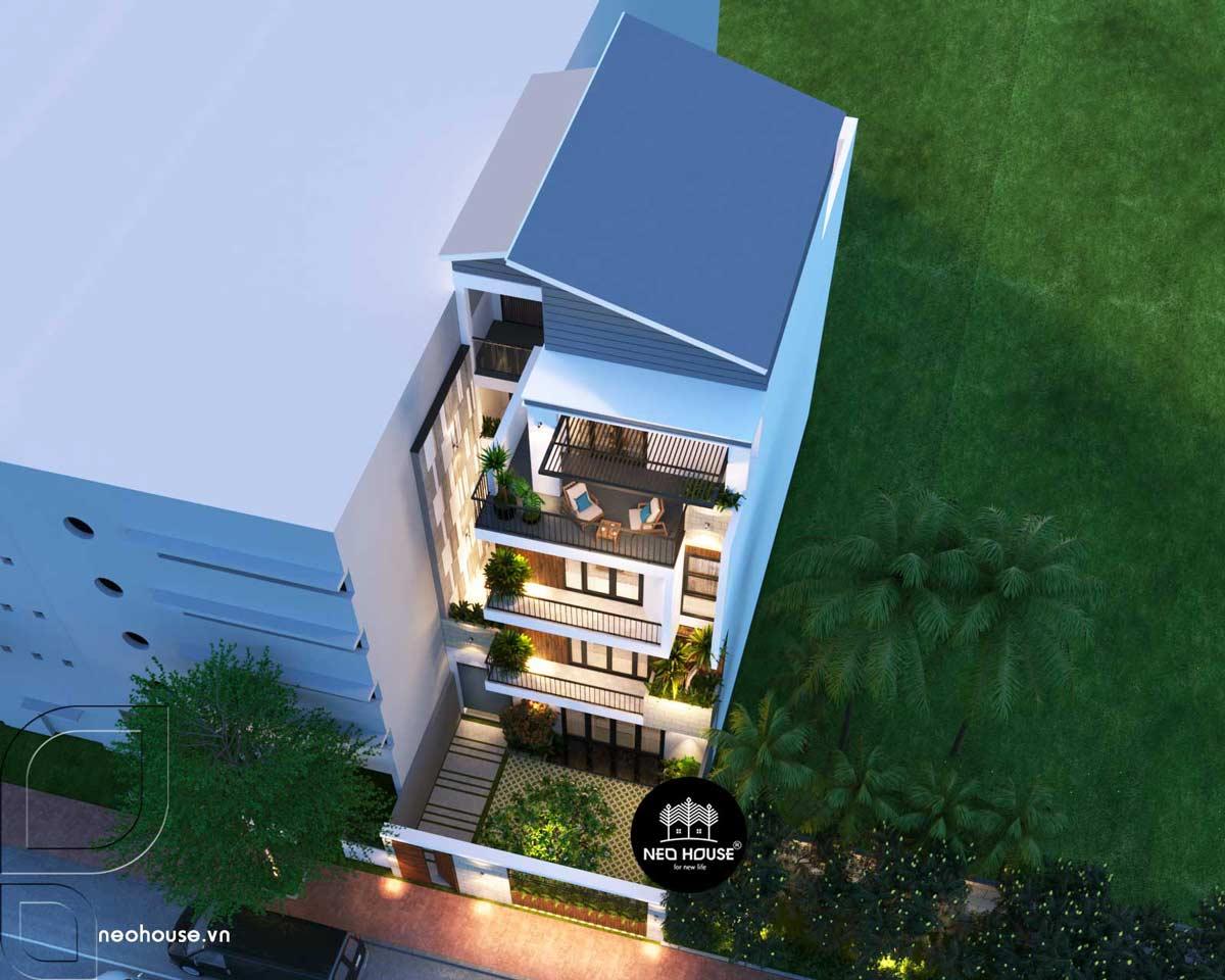Thiết kế nhà phố 3 tầng hiện đại 3