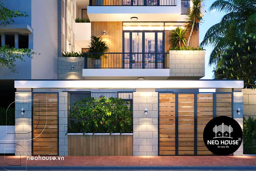 Thiết kế nhà phố 3 tầng hiện đại. Ảnh bìa