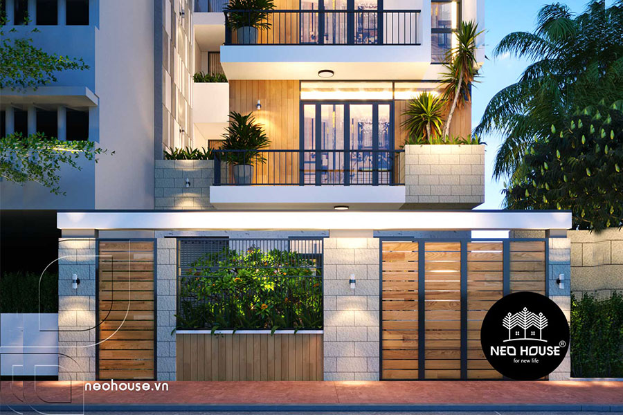 Thiết kế nhà phố 3 tầng hiện đại. Ảnh 1