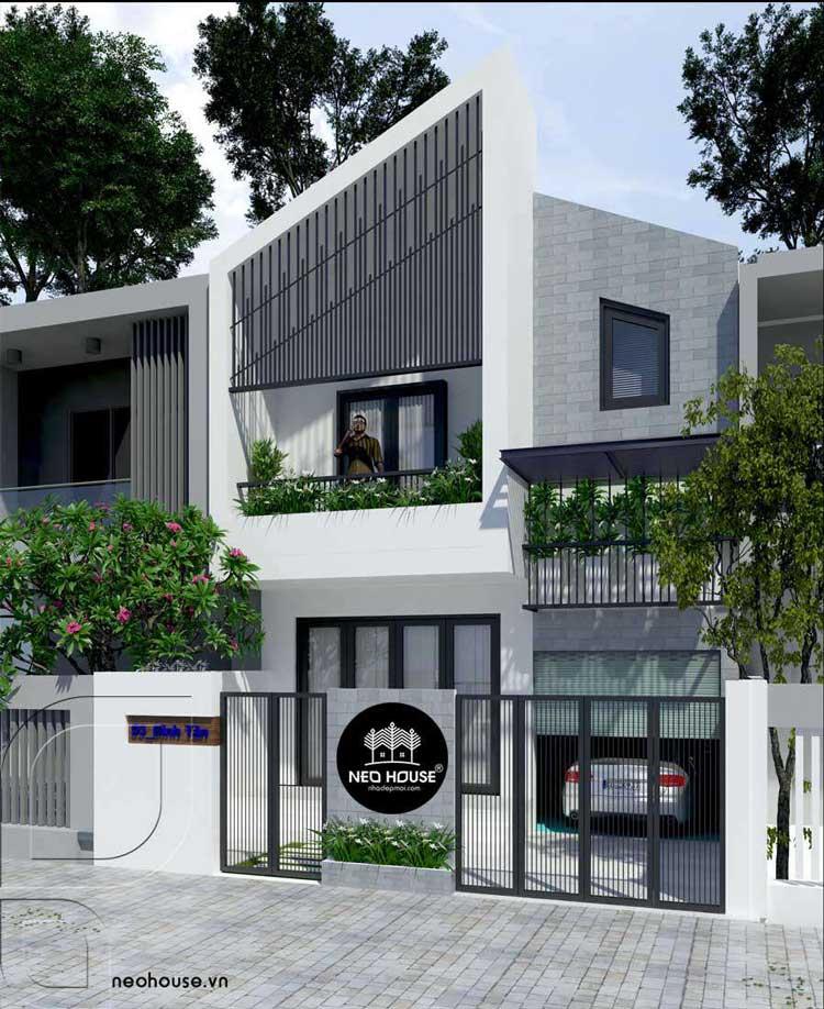 Mẫu thiết kế nhà phố 2 tầng 700 triệu 1