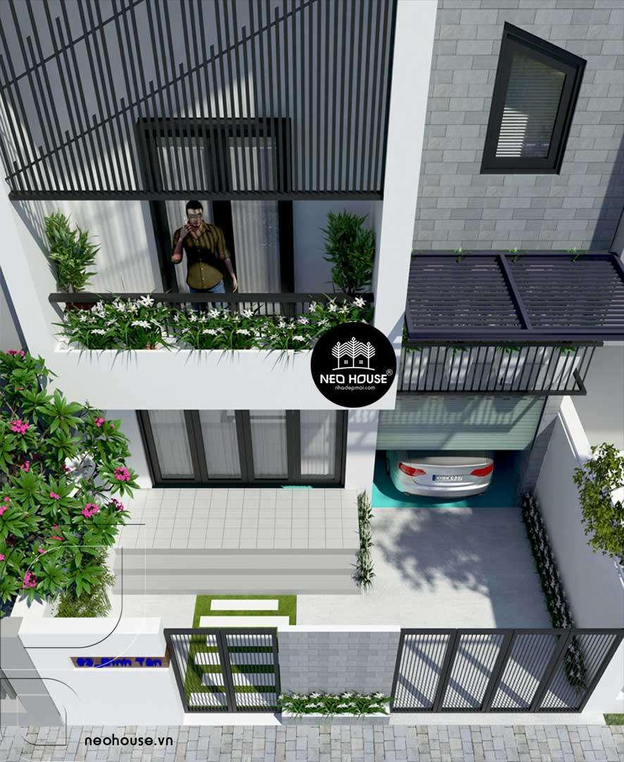 Mẫu thiết kế nhà phố 2 tầng 700 triệu 2