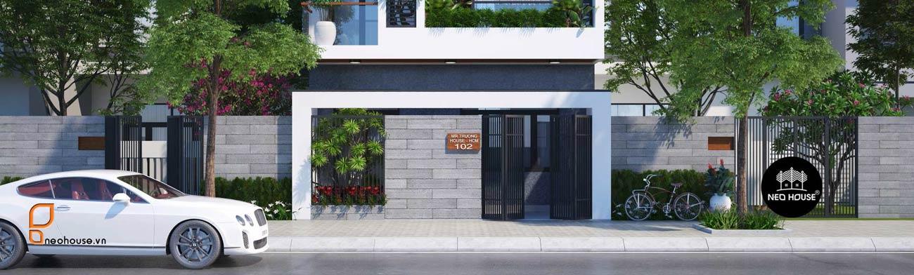 Mẫu thiết kế mặt bằng nhà phố 5m hiện đại 2