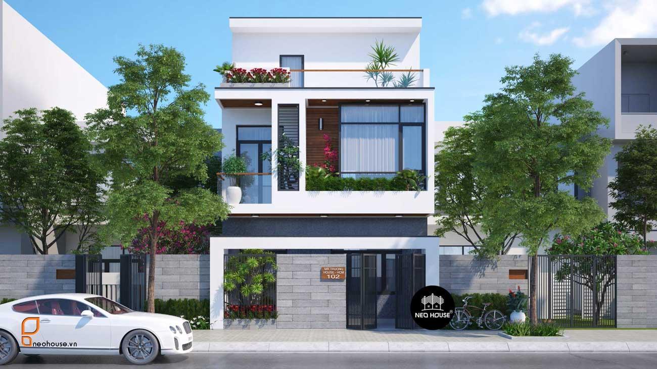 Mẫu thiết kế mặt bằng nhà phố 5m hiện đại