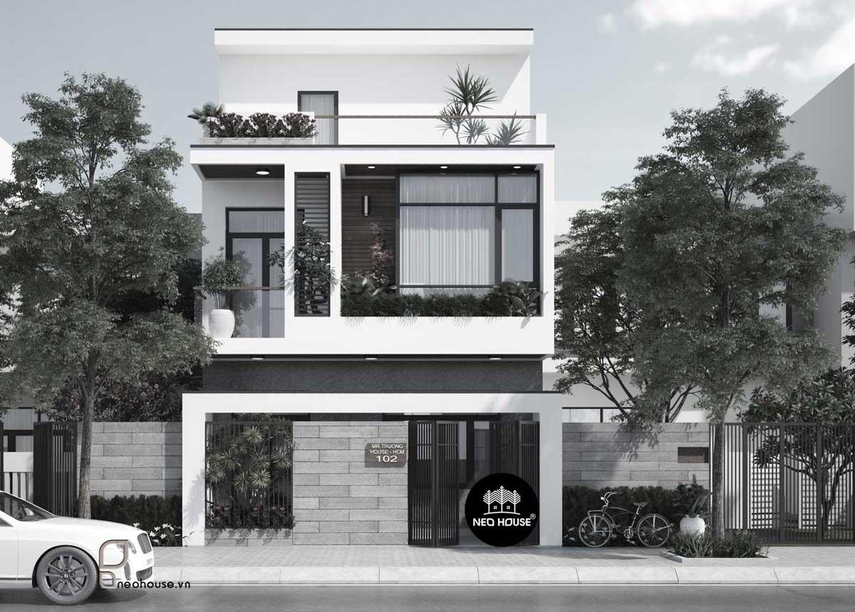 Mẫu thiết kế mặt bằng nhà phố 5m hiện đại 1