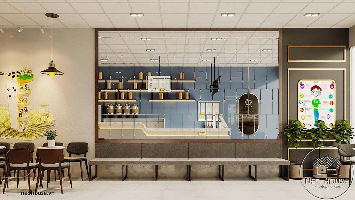 Thiết kế thi công nội thất quán trà sữa tocotoco. Ảnh 3