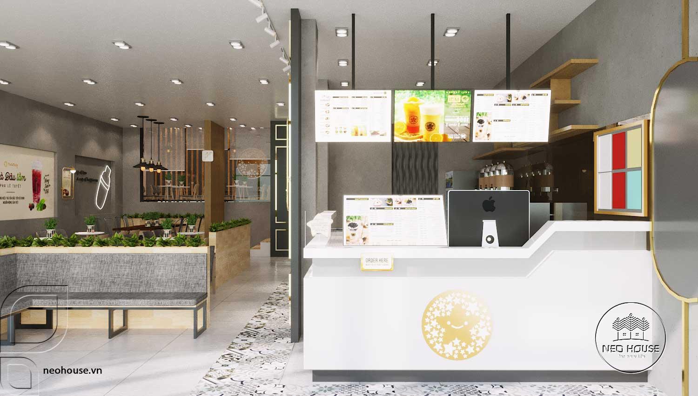 Thiết kế thi công quán trà sữa Tocotoco Nha Trang. Ảnh 1