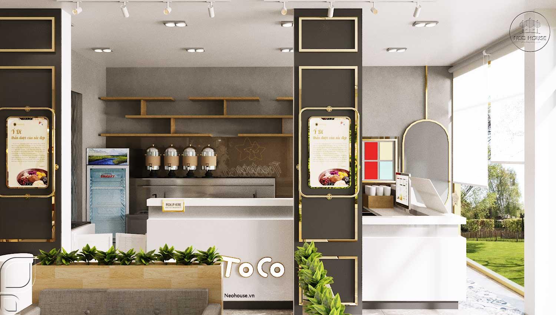 Thiết kế thi công quán trà sữa Tocotoco Nha Trang. Ảnh 2