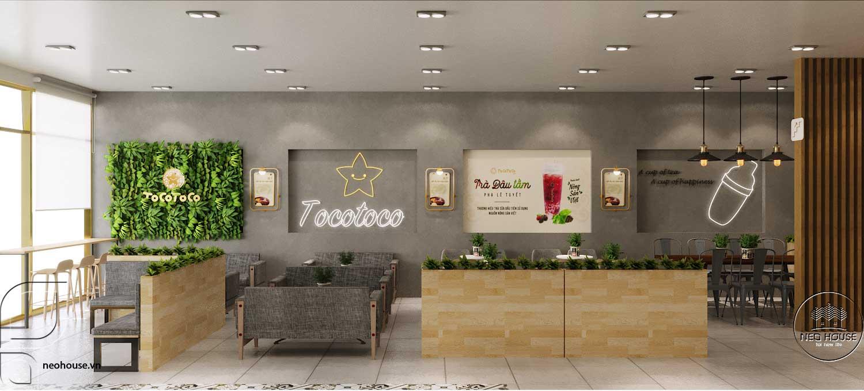 Thiết kế thi công quán trà sữa Tocotoco Nha Trang. Ảnh 4